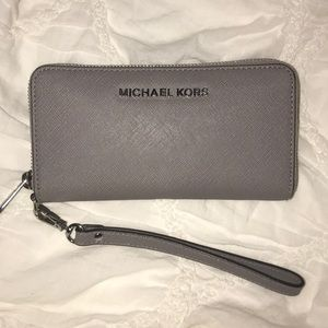 Michael Kors Grey Wristlet wallet